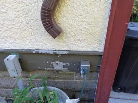 Saint Louis Home Inspector Poorest of Water Drainage