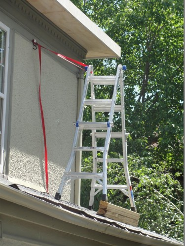 Saint Louis Home Inspections Improper Ladder Use